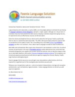 Outsourcing Translation, Outsourced Translation Services - Feenix