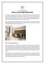 What are Day and Night Roller Blinds?