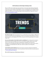 Website Design Technology Trends 2018