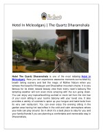 Hotel In Mcleodganj | The Quartz Dharamshala