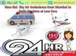 Now Get Air Ambulance from Mumbai to Delhi Anytime at Low Fare