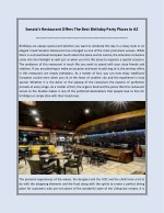 Sonata's Restaurant Offers The Best Birthday Party Places In AZ