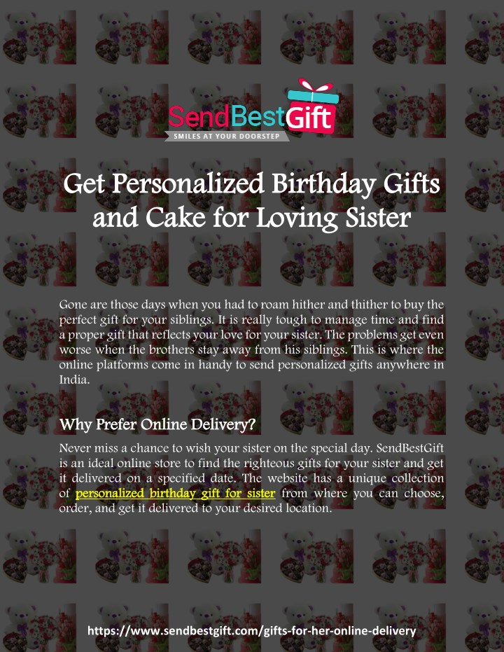 c1e723dea8b PPT - Get Personalized Birthday Gifts and Cake for Loving Sister ...