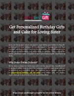 Get Personalized Birthday Gifts and Cake for Loving Sister | SendBestGift.com Blog