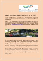 Japanese Water Garden Design Gives a New Look to Your Garden