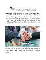 Owner Title Insurance With Carteret Title