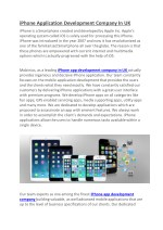 iPhone Application Development Company In UK