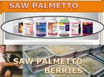 Saw Palmetto Shampoo for Hair Care to Prevent Hair Loss