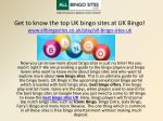 Get to know the top UK bingo sites