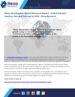 Water Desalination Market is Expected to Increase Significantly by 2024