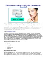 PrimaDerm Cream Review: Anti Aging Cream Benefits |Free Trial