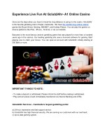 Experience Live Fun at Gclub24hr- A1 Online Casino