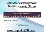 MKT 230 Course Experience Tradition / uopmkt230.com