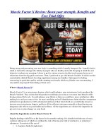 Muscle Factor X Review: Boost your strength, Benefits and Free Trial Offer