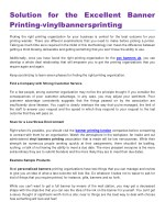 Solution for the Excellent Banner Printing-vinylbannersprinting