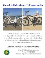 Complete Ebikes from CAB Motorworks
