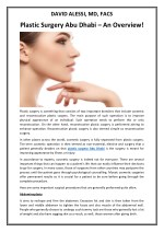Plastic Surgery Abu Dhabi – An Overview!