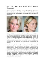 Get The Best Skin Care With Rosacea Treatment