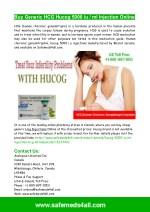 Buy Generic Hcg Hucog Injection Online