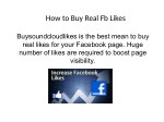 How to Buy Real Fb Likes