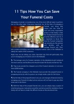Save your funeral cost in Adelaide - 11 Important Tips