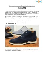 Footwear: An essential part of every man's closet[PDF]