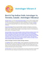 Best indian vedic Astrologer in Toronto, Canada-Astrologer Vikram ji