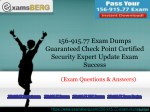 How Can I pass my 156-915.77 Exam