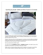 Quilt Buying Guide: GSM and Other Factors to Consider