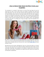 How to Select High Heels that Won't Ache your Feet[PDF]
