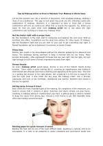 Tips by Makeup Artist on How to Maintain Your Makeup in Warm Days