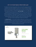 LED Corn Bulbs Replace Metal Halide Light - ledmyplace