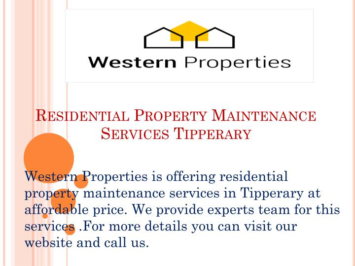 PPT - Residential Property Maintenance Services Tipperary PowerPoint