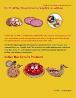 Dry Fruit Tray Manufacturer in Ludhiana| Ashirwad handicrafts