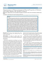 Trivedi Effect - Characterization of Physicochemical and Thermal Properties of Chitosan And Sodium Alginate after Biofie