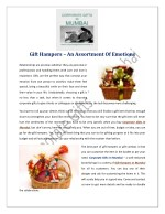 Gift Hampers–An Assortment Of Emotions