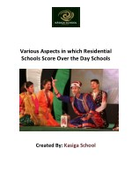 Various aspects in which residential schools score over the day schools