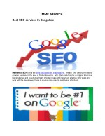 Best SEO services in Bangalore