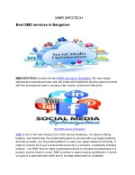 Best SMO services in Bangalore