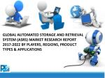 Global Automated Storage and Retrieval System (ASRS) Market - Positive Long-Term Growth Outlook 2017-2022