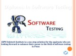 Presentation for Diploma In Software Testing