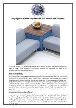 Buying Office Desk – Questions You Should Ask Yourself