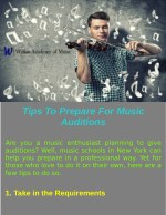 Tips To Prepare For Music Auditions