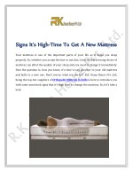 Signs It's High-Time To Get A New Mattress