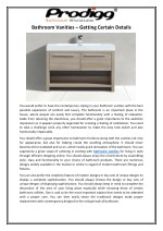 Bathroom Vanities – Getting Certain Details