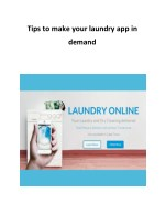 Tips to make your laundry app in demand