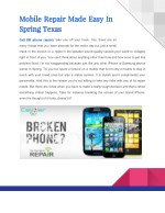 Mobile Repair Made Easy at Cell Phone Repair Spring TX