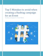 Top 5 Mistakes to avoid when creating a Hashtag campaign for an Event