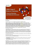 NCERT Solutions Chemistry notes for class 11-Chemical Bonding