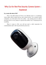 Why Go for Best Poe Security Camera System – Explained